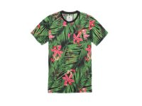 On The Byas/オンザバイアス Mite Tropics Short Sleeve Henley T-Shirt /ポケット付き Tシャツ(Green Mix)