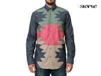 STAPLE/ステイプル-MAKAI LS BUTTONDOWN SHIRT/ボタンダウンシャツ(INDIGO)