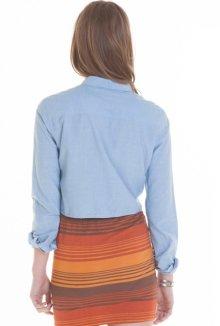 他の写真3: OBEY オベイ レディース LOGAN ロングスリーブシャツ LIGHT BLUE