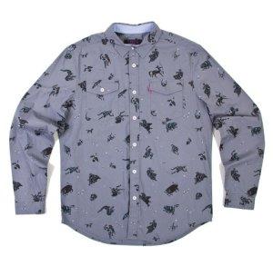 画像1: Mishka ミシカ Telescopic Button Up ボタンダウンシャツ Midnight