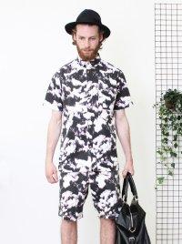 Son Of Wild/ソンオブワイルド-Monet Shirt/半袖ボタンダウンシャツ(White)
