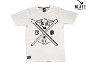 画像1: BLAZE SUPPLY ブレイズサプライ 2 MATCHES Tシャツ OFF WHITE