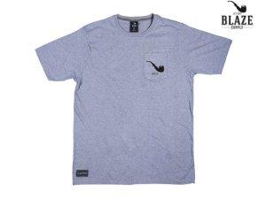 画像1: BLAZE SUPPLY ブレイズサプライ CLASSIC POCKET PIPE Tシャツ GREY