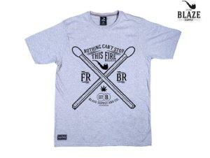 画像1: BLAZE SUPPLY ブレイズサプライ 2 MATCHES Tシャツ GREY