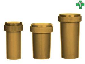 画像1: メディカルマリファナ ケース 医療大麻 容器 GOLD ゴールド