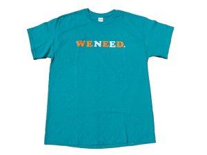 画像1: WE NEED Tシャツ TURQUOISE