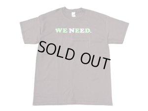 画像1: WE NEED Tシャツ BROWN