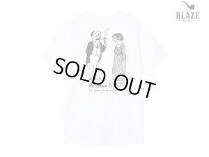 画像1: BLAZE SUPPLY ブレイズサプライ MR & MME BLASE WHITE Tシャツ