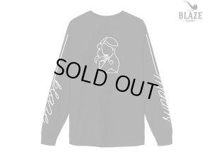 画像1: BLAZE SUPPLY ブレイズサプライ BLAZE GIRL BLACK ロングスリーブ Tシャツ