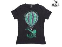BLAZE SUPPLY ブレイズサプライ BALLOON PIPE レディース Tシャツ BLACK