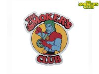 THE SMOKERS CLUB ザスモーカーズクラブ SATURDAY MORNING RED ステッカー