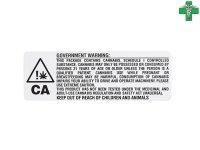 メディカルマリファナ 医療大麻 ケース用ステッカー1枚 カリフォルニア州 WARNING
