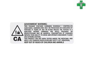 画像1: メディカルマリファナ 医療大麻 ケース用ステッカー1枚 カリフォルニア州 WARNING