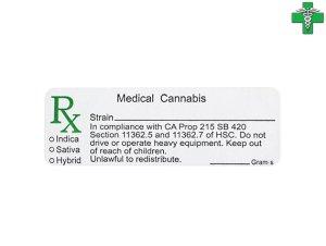 画像1: メディカルマリファナ 医療大麻 ケース用ステッカー1枚 カリフォルニア州