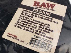 画像3: RAW BLACK GOLD LOGO ロウ ブラック ゴールドロゴ Tシャツ
