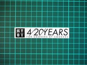 画像2: RYOT 420 YEARS ステッカー ホワイト