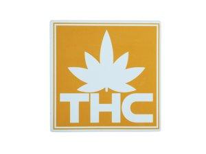 画像1: THC ステッカー Yellow Logo C211