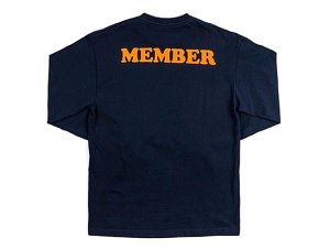 画像2: THE SMOKERS CLUB ザスモーカーズクラブ LONG SLEEVE MEMBER TEE ロングスリーブ Tシャツ NAVY